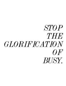 stop the glorification